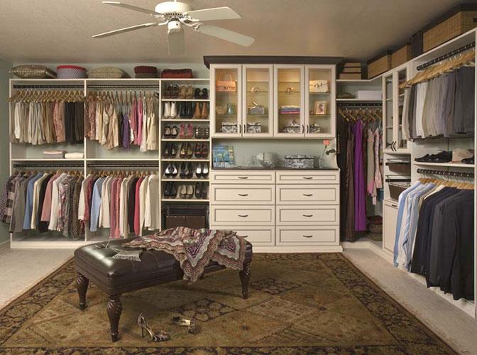 Walk In And Reach In Closets