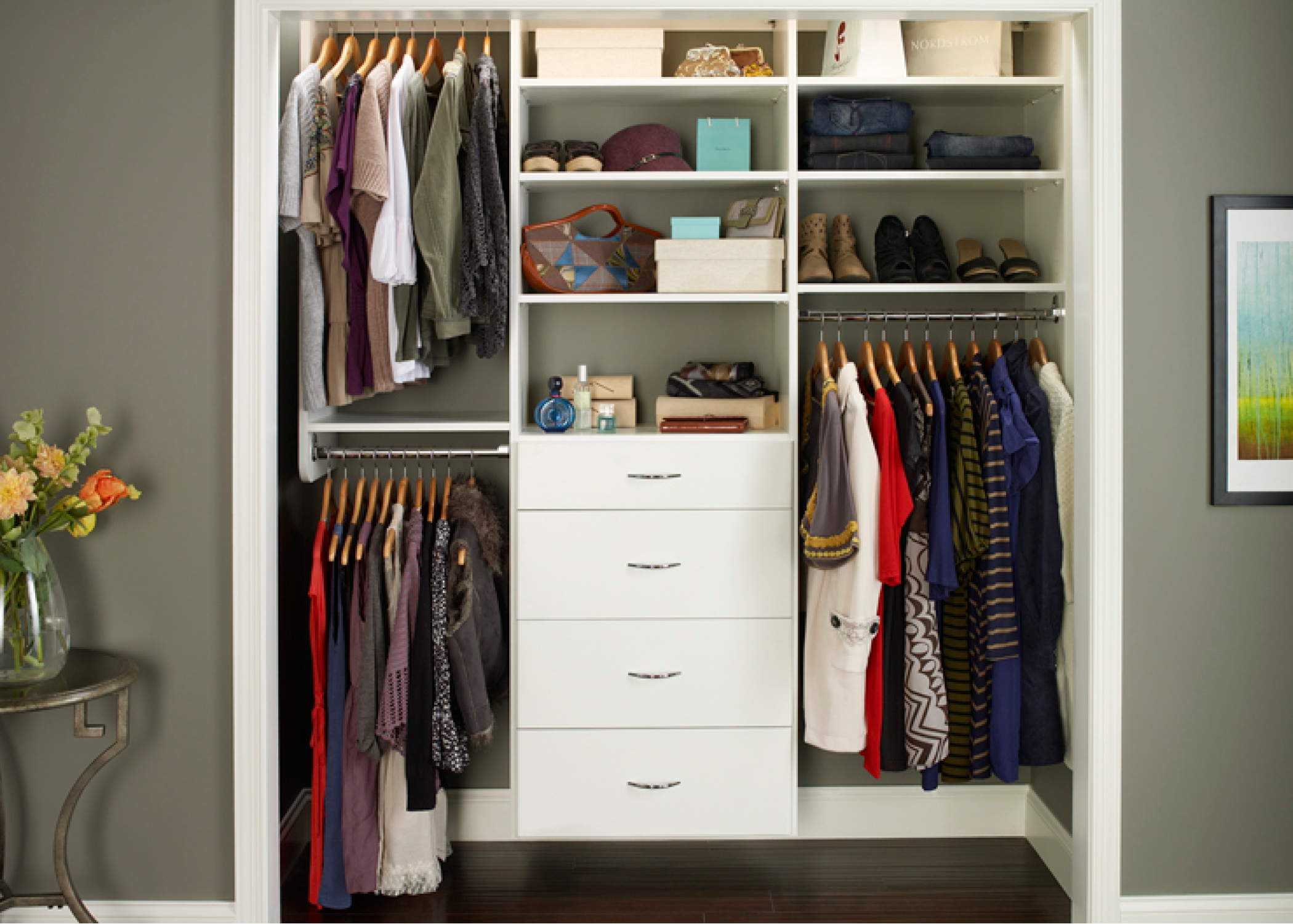 But With The Right Custom Reach In Closet Design Any Small Can Accommodate A
